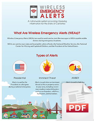 Image of the What are 'Wireless Emergency Alerts (WEA)?' document, page 1